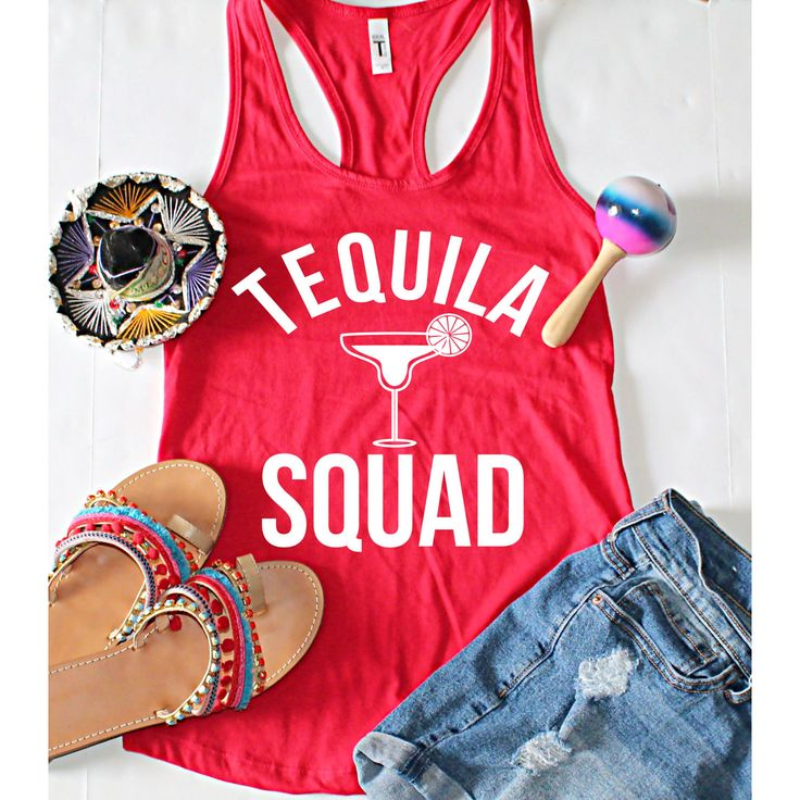 Cinco De Mayo, Tequila Squad Fitted Racerback Tank Top, XS-2XL, Bachelorette Party Shirts, Gifts For Her, Wine Tasting Trip by ShopatBash on Etsy
