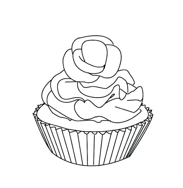 Cupcake and cake coloring pages cupcake coloring pages
