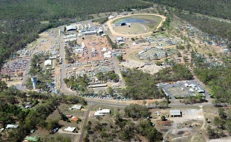 Aerial view of the Maryborough showgrounds site.
