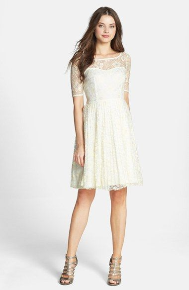 Betsey Johnson Lace Fit & Flare Dress available at #Nordstrom