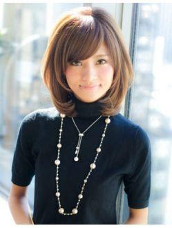 アフロート ジャパン AFLOAT JAPAN トップにボリューム加え小顔似合わせミディアムヘア