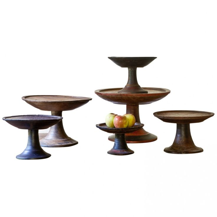 Antiques Decorative: Wood Offering Stands from Indonesia