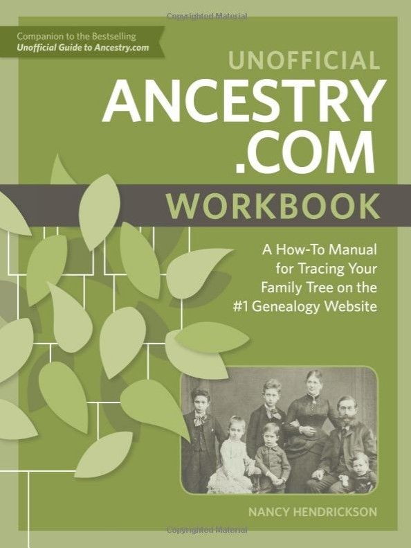 Ancestry Workbook - Maximize Your Subscription With My Newest Book http://ancestornews.com/ancestry-com-workbook-maximize-subscription-newest-book/?utm_campaign=coschedule&utm_source=pinterest&utm_medium=Nancy%20Hendrickson&utm_content=Ancestry%20Workbook%20-%20Maximize%20Your%20Subscription%20With%20My%20Newest%20Book Get the most from your Ancestry subscription with this new Workbook