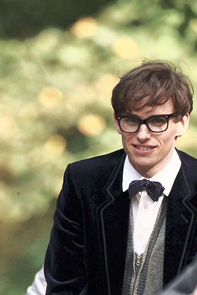"Eddie Redmayne as Stephen Hawking on the Set of ""Theory of Everything."""