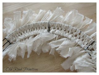 rag wreath diy....great to use up scraps