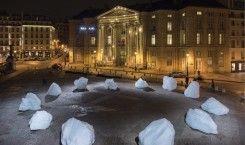 Künstler Olafur Eliasson macht mit Eisskulpturen auf Klimawandel aufmerksam