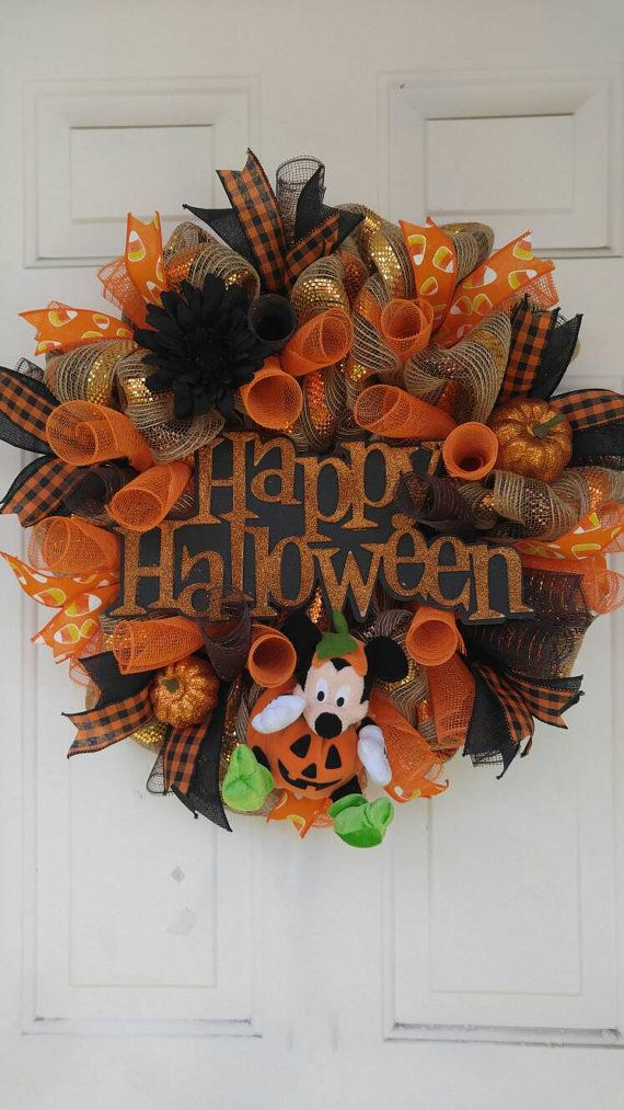 Couronne d'Halloween Disney, Mickey mouse Couronne, Couronne d'Halloween…