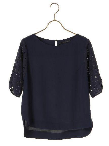 袖レースブラウス(シャツ)|YECCA VECCA(イェッカヴェッカ)|ファッション通販 - ファッションウォーカー