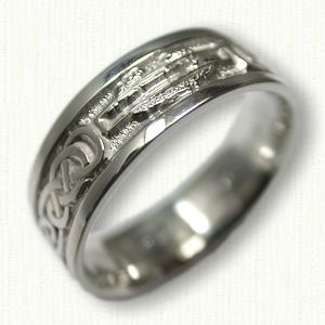 sterling silver combat infantry wedding band military jewelry pinterest military jewelry - Military Wedding Rings