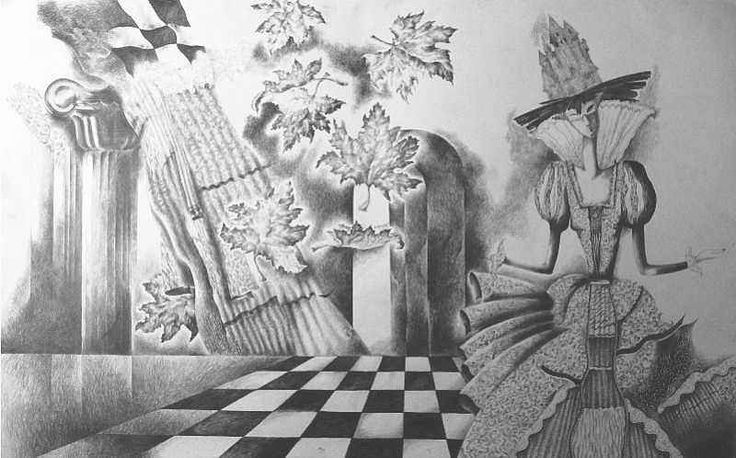 Carnival A Drawings By #yelena Pencil on paper 101 X 61 cm Original Drawing. available at http://yelenaartstudio.com/Carnival_Drawings.html