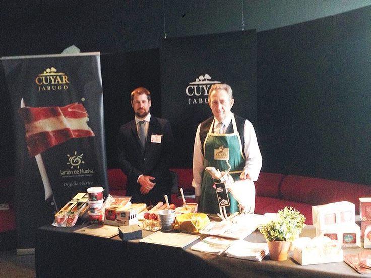 Stand de nuestros productos en el evento culinario en Bruselas Fusion Food. Un éxito de crítica. 28/09/2015