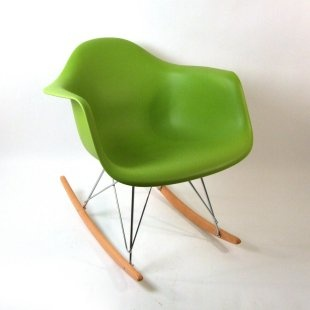 green midcentury rocking chair