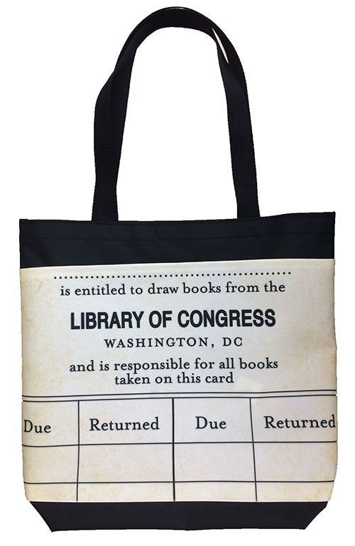 the tote for the ultimate library patron library of congress tote bag get creative. Black Bedroom Furniture Sets. Home Design Ideas