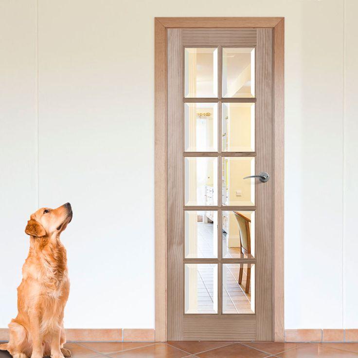 10 Light Radiata Pine Door with Bevelled Clear Safety Glass & 36 best Internal Pine Glazed Doors images on Pinterest | Glazed ...