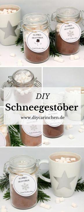 DIY Schneegestöber / Süßes Geschenk zu Weihnachten + gratis Vorlage