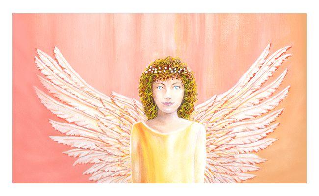 Healing Angel Close Up by Julia Underwood