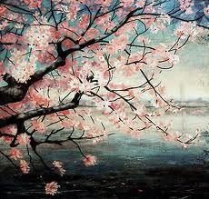 cherry blossom tree - Japanese Garden Cherry Blossom Paintings