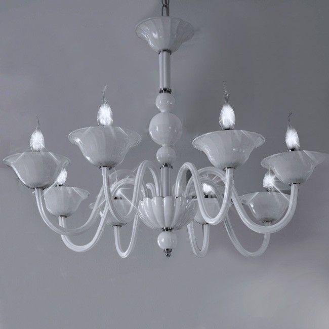 bas lampadari : Stil. Lampadario Murano Ring Varie Misure Bianco - ? 373,00