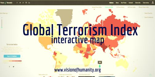 The Global Terrorism Index (GTI) is the first index to systematically rank and compare 162 countries according to the impact of terrorism.  The GTI uses four indicators to measure the impact of terrorism: the number of terrorist incidents, the number of deaths, the number of casualties and the level of property damage. These indicators are used to create a weighted five year average for each country, which takes into account the lasting effects of terrorism.
