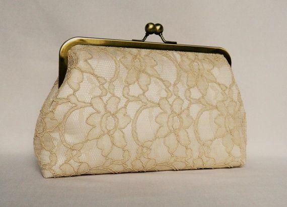 Clutch purse Bridal Clutch Wedding Clutch Lace by TheHeartLabel