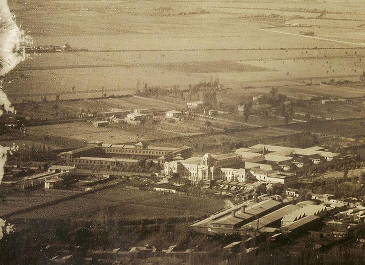 Providencia en 1906, mostrando el loteo de Pedro de Valdivia, el Asilo de Huérfanos de la Providencia y el templo de Nuestra Señora de la Divina Providencia