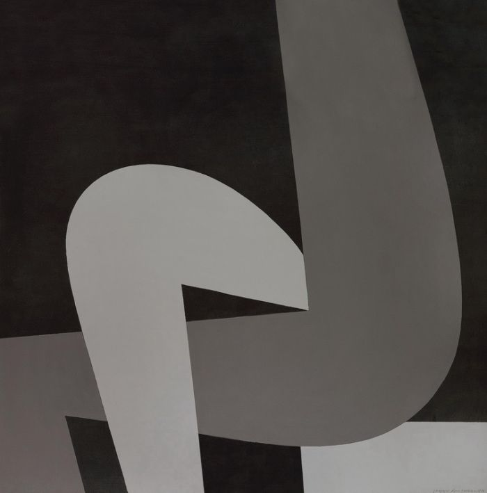Figure B - Yannis Moralis (1978) #cubism #abstract