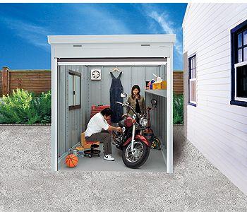 バイク保管庫 イナバ物置のバイク保管庫 使用イメージ