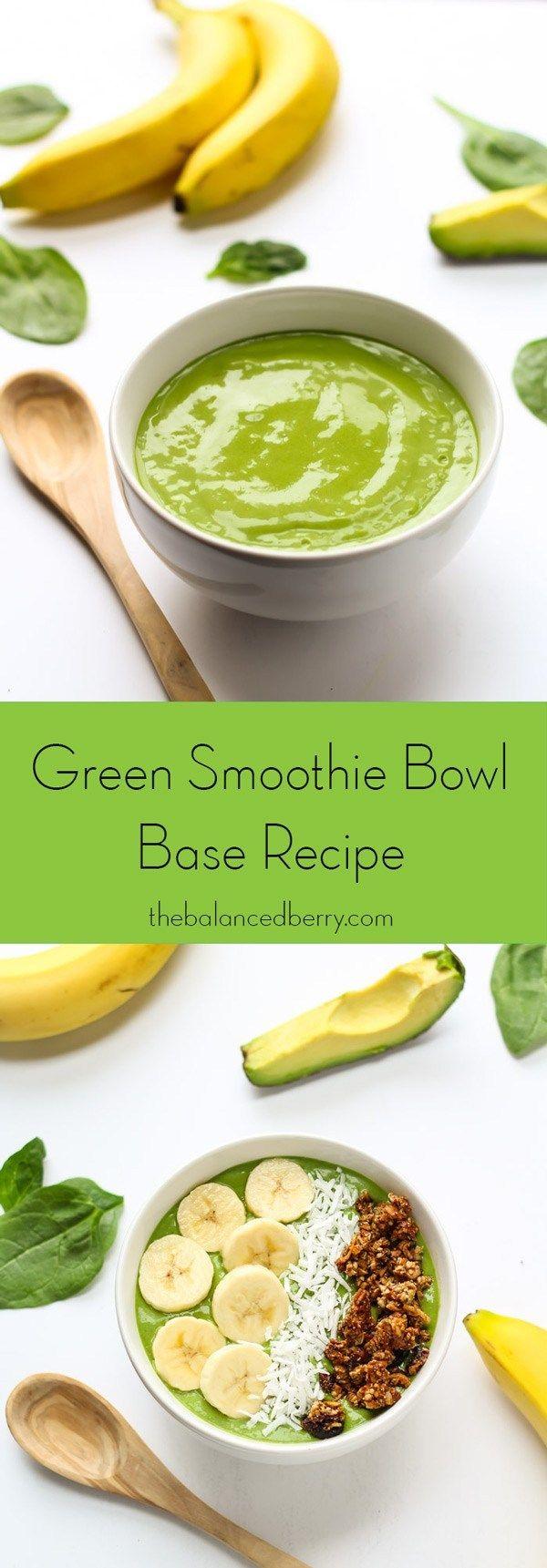 Die beste grüne Smoothie-Schüssel – die ausgeglichene Beere   – Healthy Cooking