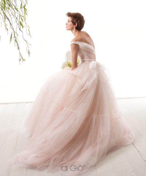 609 best blush wedding ideas soft pink wedding ideas for Le spose di gio wedding dress