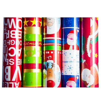 PATTERNED CHRISTMAS WRAPPING PAPER ASSORTED DESIGNS