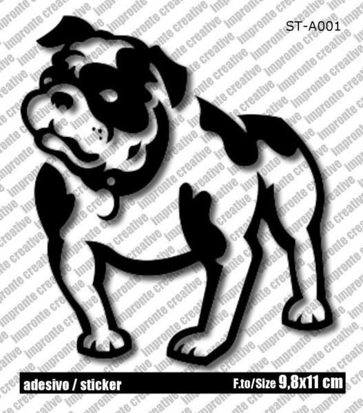 Adesivo Sticker AMERICAN BULLDOG di impronte creative shop su DaWanda.com