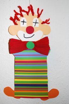 Clown basteln - Kinderspiele-Welt.de