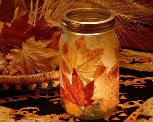 Tipps für's Herbstbasteln... windlicht etc.