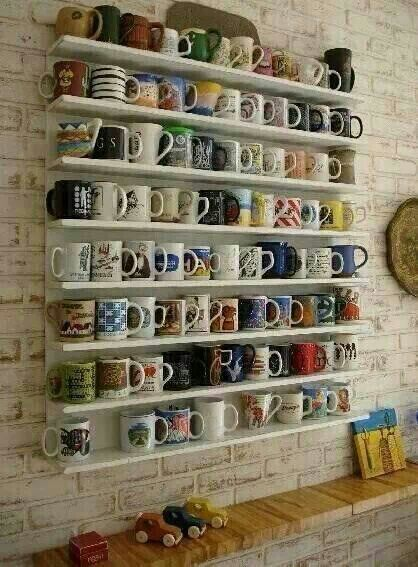 free up shelf space in kitchen and looks good!