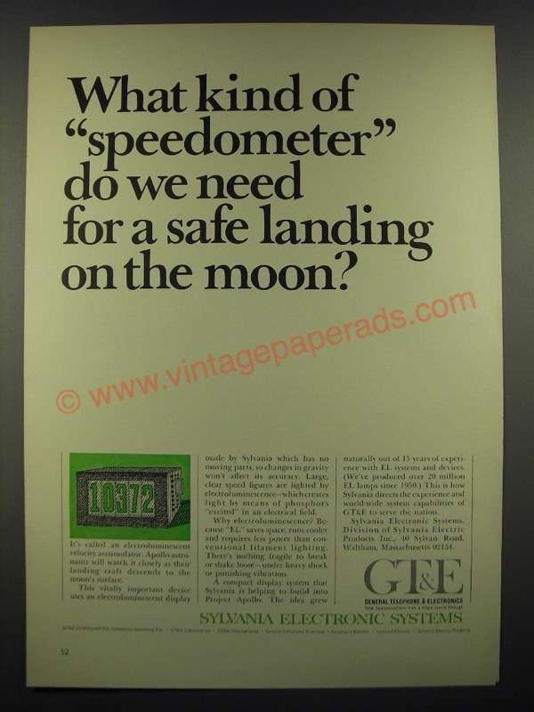 1966 GT&E Sylvania Electronic Systems Ad - Kind of Speedometer