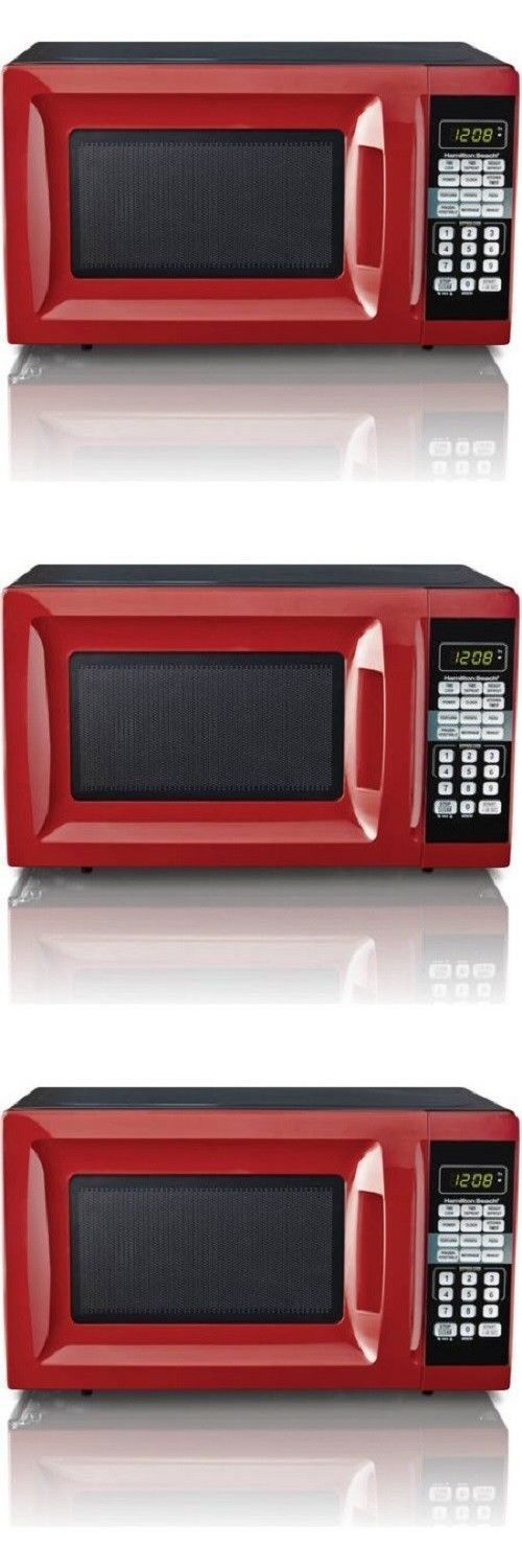 Microwave Ovens 150138: Microwave Oven Countertop Digital Hamilton Beach 0.7 Cu Ft Red 700 Watt Kitchen -> BUY IT NOW ONLY: $52.95 on eBay!