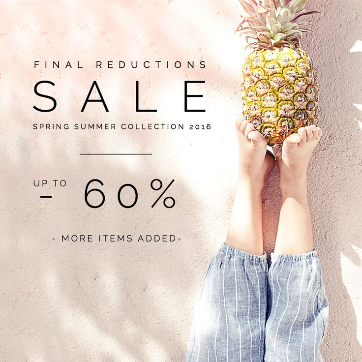#sale #summersale #60% #finalreduction #misslemonade