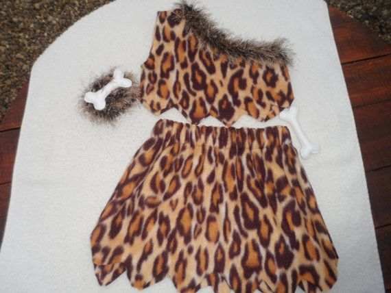 Caveman costume, toddler costume. girls, cavegirl, jungle outfit, flintstones, pebbles, croods halloween costume, size 2-3yrs READY to SHIP