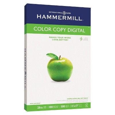Hammermill Color Copy Paper, 100 Brightness, 28 lb - White (500 Per Ream)