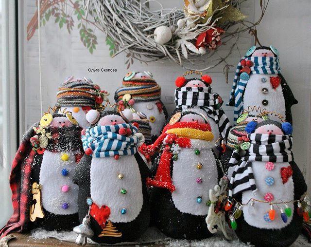 WEBSTA @ olgaskopova - Ох 10 шт готовы) #пингвины #пингвинтильда #назаказ #ольгаскопова #новыйгод #новыйгод2016 #новогоднийдекор #новогодняяфотосессия #воронеж #врн