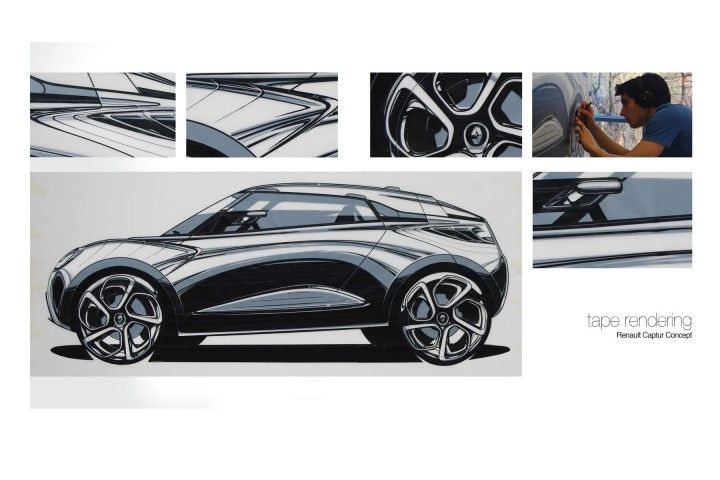 Renault Captur Concept Tape Rendering by Marco Brunori