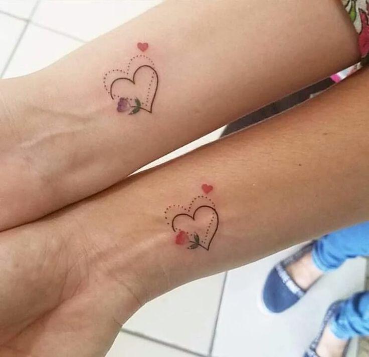 #tattoo | Tatuagem feminina para amigas, Tatuagem com iniciais, Tatuagem melhores amigas