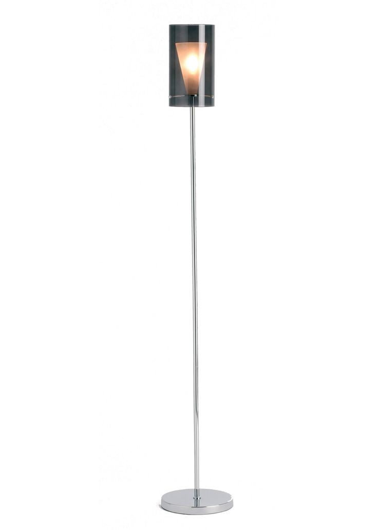 Dakota floor lamp smoked from pagazzi lighting