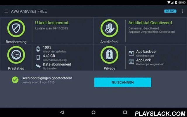 Tablet AntiVirus Security FREE  Android App - playslack.com ,  Gratis realtime bescherming tegen virussen en diefstal voor uw tablet.De beveiligingsapp voor Android™-tablets van AVG beschermt u tegen schadelijke virussen, malware, spyware en sms-berichten (voor SIM-apparaten) en houdt uw persoonlijke gegevens veilig.Download de app nu gratis.Al meer dan 100.000.000 mensen hebben AVG's apps voor mobiele antivirusbescherming geïnstalleerd. Sluit u nu bij hen aan en:✔ Scan apps, instellingen…