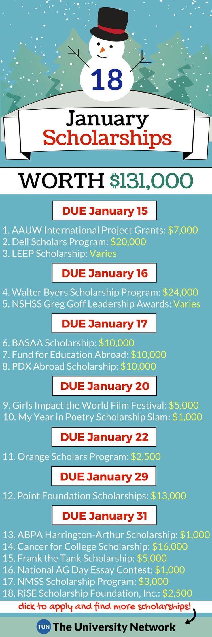 January scholarships