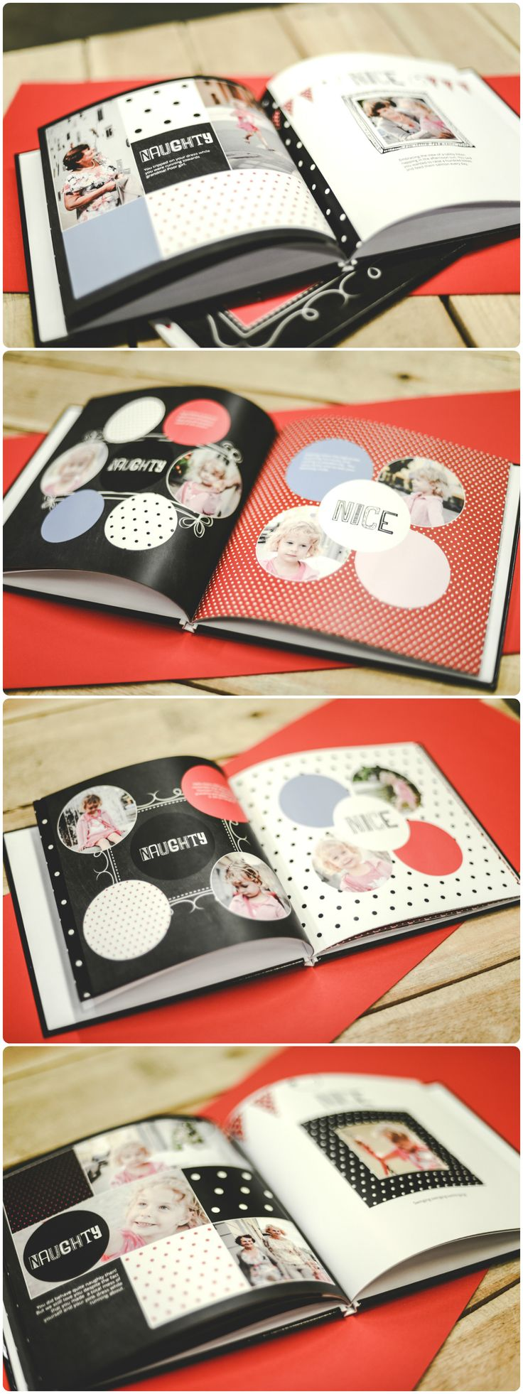 Naughty or Nice photobook for Christmas | Free template ready for your photos | zoombook.com