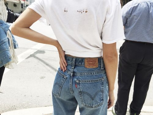 Not to self: need a new pair of Levis! .