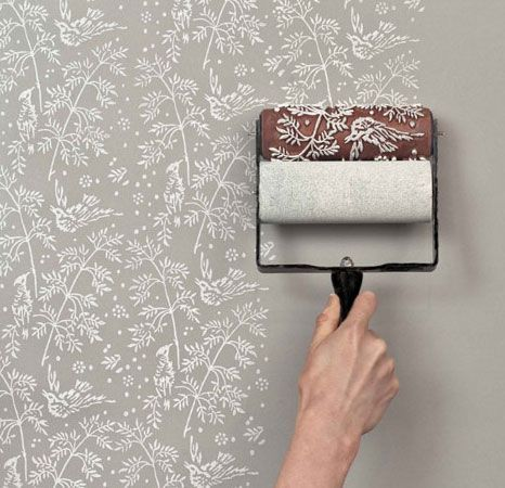 Click Pic for 50 DIY Home Decor Ideas on a Budget - Get the Wallpapered Look Easily With Patterned Paint Rollers - DIY Crafts for the Home