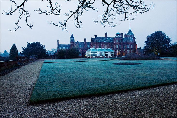 The Elvetham near Hartley Wintney - photographed at dusk during a winter wedding.