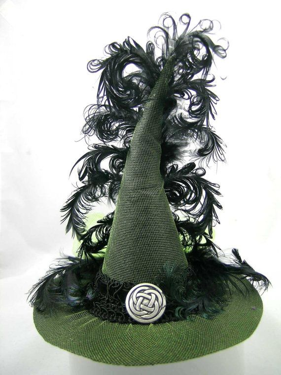 Mini Witch Hat Lime Green Celtic Knot by FirstSightCreations: Holiday, Halloween Costume, Halloween Witches, Green Witch Costume, Costume Hats, Adult Witch Costume, Witchy Hat, Witch Hats Shoes, Witches Hats Oo